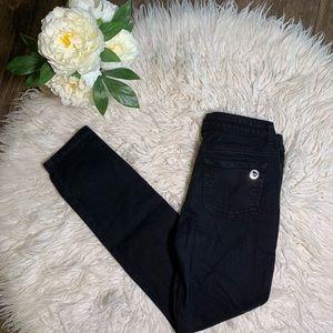 • Michael Kors Skinny Stretch Black Jeans •